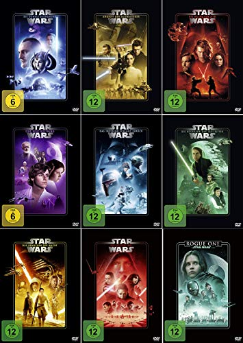 Star Wars 1 - 8 Paket + Rogue One: A Star Wars Story [9er DVD-Set]