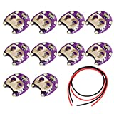 DAOKI 10Pcs Coin Cell Battery Holder Lilypad CR2032 Battery Mount Module for Arduino Small Slide Switch Board DIY Kit