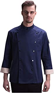 Chef Workwear Double Row Buttoned Long Sleeve Chef Coat