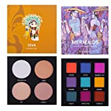Eyeshadow Palette Makeup - Highly Pigmented Matte and Shimmer 9 Colors Eye Shadow + Highlighter Glow Kit- Professional Long Lasting Waterproof Makeup Eyeshadow Palettes Cosmetics Eye Shadows, Face Set