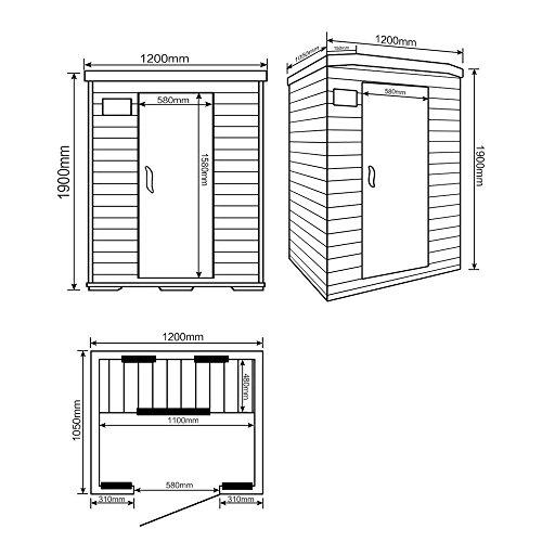 Home Deluxe | Infrarotsauna | Redsun M | Keramikstrahler | inkl. vielen Extras und komplettem Zubehör | verschiedene Varianten - 6