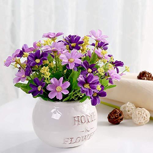 LWBAN-Flower Dekoration Wohnung Modern, Pflanze Bonsai Japanische Deko Badezimmer,Kunstpflanzen Im Topf,25Cm,Metallic