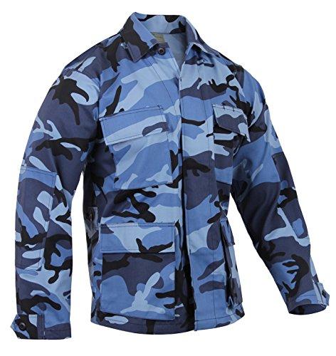 Rothco Camo BDU (Battle Dress Uniform) Military Shirts, Sky Blue Camo, M