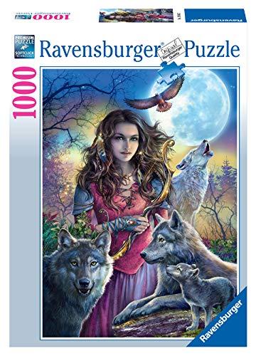 Ravensburger Puzzle 19664 - Patronin der Wölfe - 1000 Teile Puzzle für Erwachsene und Kinder ab 14 Jahren, Fantasy Puzzle mit Wölfen