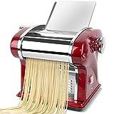 LIUXING Macchina per Pasta Acciaio Inossidabile Pasta Maker 220V Noodle Electric Press Macchina Spaghetti Pasta Maker Commerciale Dough Cutter Gnocchi (Colore : Rosso, Dimensione : Free Size)