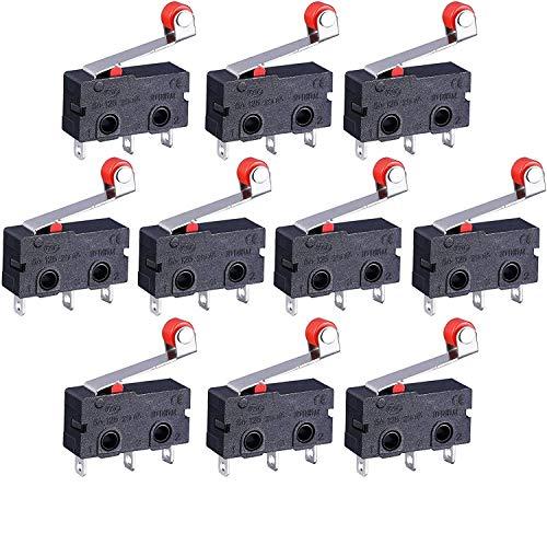 mmtrade | 10x mini Endschalter Roller Mikroschalter Hebel Arm SPDT Endschalter Rollenhebel Snap