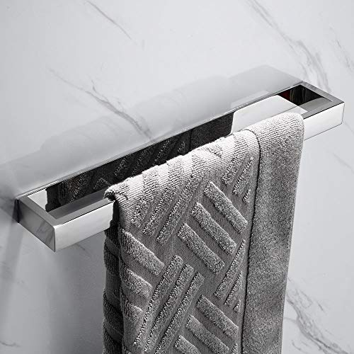 Melairy Handtuchhalter Ohne Bohren Gästehandtuchhalter Edelstahl Chrom Handtuchstange Selbstklebend 40 cm (Chrom)