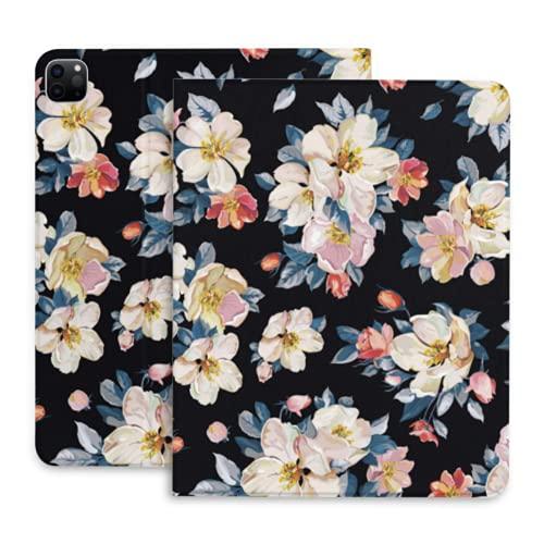 Elegante Funda Rosa para Tableta con Flor de Apple Tree Blossom para iPad con portalápices Compatible con iPad 2020 Pro 11 12,9 Pulgadas