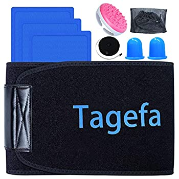 Tagefa Fat Freezing Body Sculpting Waist Trimmer Lose Stubborn Belly Fat by Freezing Fat Cells at Home Stomach Wraps for Weight Loss