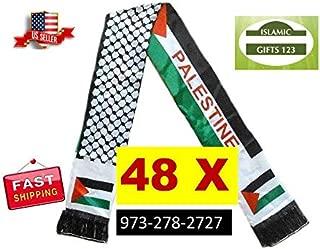 Palestine Jerusalem Arab Shemagh 2-6-12 Scarf,Arafat فلسطين KEFFIYEH Arab Shemagh AL-AQSA GAZA الاقصى Scarf Palestine Flag Ramadan Quran Muslim Arabic Alphabet wedding gift-Islamic Gifts 123 (48)