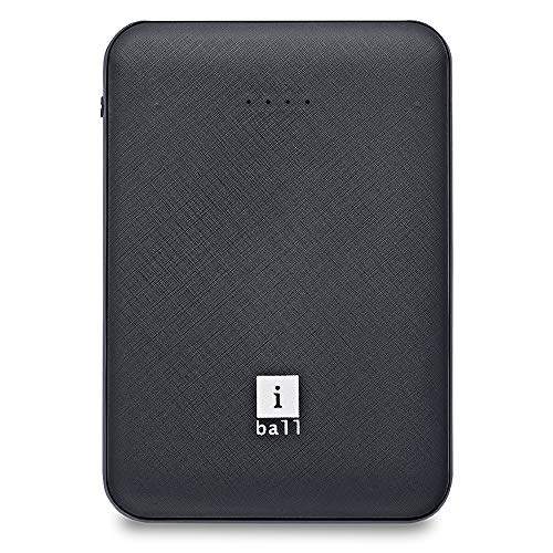 iBall 5000 mAh, Powerbank (IB-5000LPS), Dual USB Output, Black