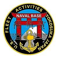 彫金ステッカー アメリカ海軍 横須賀海軍施設