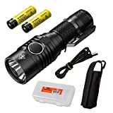 Nitecore MH23 1800 Lumen USB Rechargeable Compact Flashlight with 2X 3500mAh 8A Rechargeable High Performance Battery and Lumen Tactical Battery Organizer