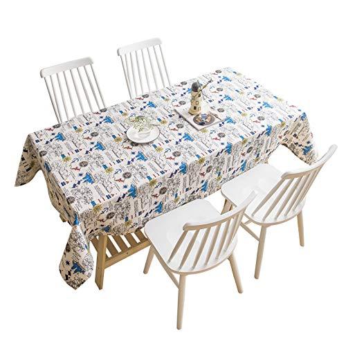 Mantel con diseño de borlas, lavable, ovalado, algodón, lino, rectangular, a prueba de polvo, decoración de mesa de café, jardín, 90 x 140 cm