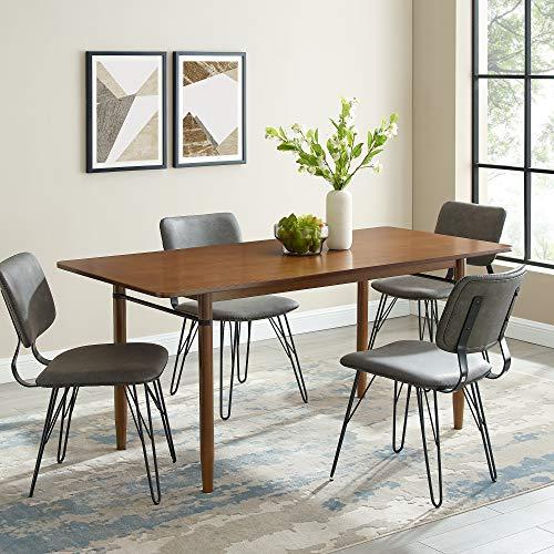 "Walker Edison Furniture Company Wood Kitchen Dining Table, 68"", Acorn"