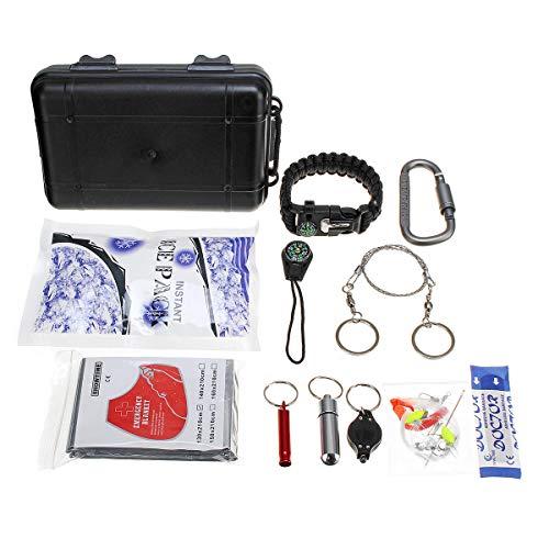 XUQIANG 27 En 1 Llamada DE Socorro Equipo de Supervivencia de Camping de Emergencia Kit de Herramientas Engranajes al Aire Libre Herramienta táctica