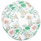 Brandseller - Juego de 2 cojines redondos de 40 cm de diámetro x 3 cm de diámetro, diseño vintage de flores