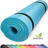 diMio Yogamatte Gymnastikmatte rutschfest mit Tragegurt, phthalatfrei + SGS-geprüft (SkyBlue, 200 x 100 x 2 cm)