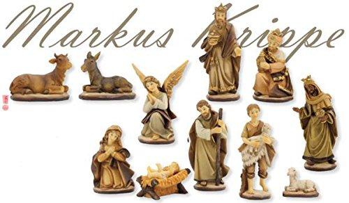 Unbekannt Krippenfiguren Markuskrippe gebeizt 11-TLG. Set geeignet für 9cm Figuren
