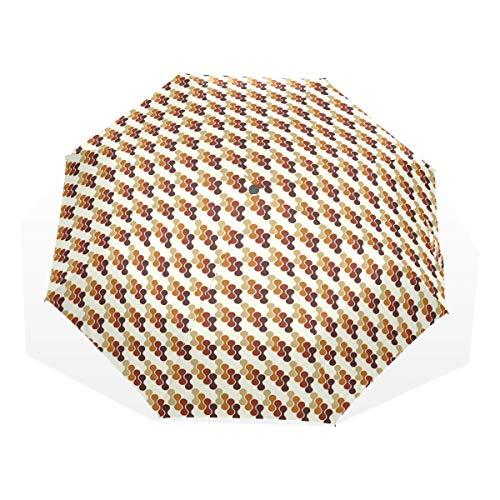 LASINSU Mini Ombrello Portatile Pieghevoli Ombrello Tascabile,Stampa artistica vibrante geometrica astratta,Antivento Leggero Ombrello per Donna