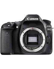 Canon EOS 80D Body Only - 24.2 MP, DSLR Camera, Black