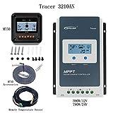 EPEVER MPPT Controlador de carga solar 30A + MT50 Monitor + Temp.Sensor Tracer 3210AN Paquete para panel solar