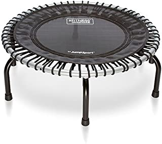 JumpSport 350   Fitness Trampoline   Safe & Stable No-Tip Arched Legs   Long Lasting Premium Bungees for Quality & Durability   Includes 4 Workout Videos On 1 DVD