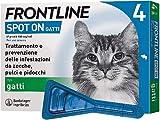 Frontline | Spot On Gatti | Protezione da zecche, pulci e pidocchi | 4 Pipette da 0.5 ml