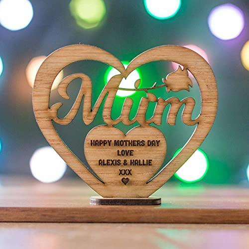 AoFeiKeDM Decoración de madera para el día de la madre, letras huecas,...