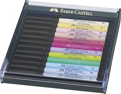Faber-Castell 12er Themenset Pitt Artist Pen B Pastell