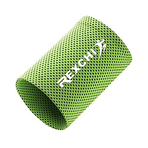 Price comparison product image Fewear Unisex Sports Wristbands - Wrist Sweatbands for Athletics - Fits Men & Women - Ideal for Baseball,  Tennis,  Basketball,  Football,  Running & Working Out (S,  Green)