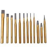 CCLIFE 12 piezas Juego de botadores/cinceles/granetes