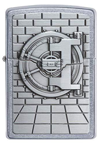 Zippo Unisex Seguro con Caja Sorpresa Regular Resistente al Viento más Ligero, Calle Chrome, un tamaño 2