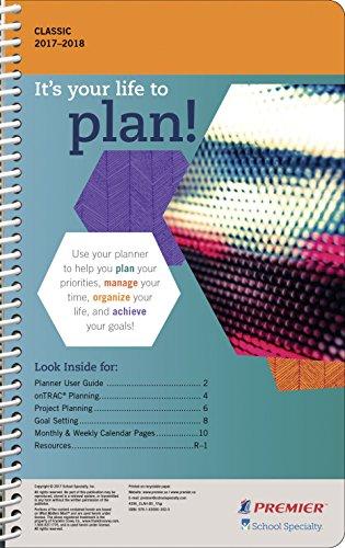 Premier 1577844 Classic High School Student Planner, 5 x 8', 2017 to 2018, Grade