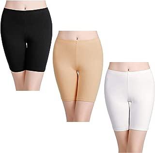 wirarpa Womens Anti Chafing Cotton Underwear Shorts Long Leg Knickers Under Dresses Biker Short Leggings 3 or 1 Pack