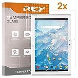 Pack 2X Pellicola salvaschermo per Acer ICONIA One 10 B3-A40 10.1', Pellicole salvaschermo Vetro Temperato 9H+, di qualità Premium Tablet, Elettronica Rey