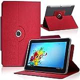 Seluxion-Funda universal para tablet, color rojo Edison 3 BQ mini 8