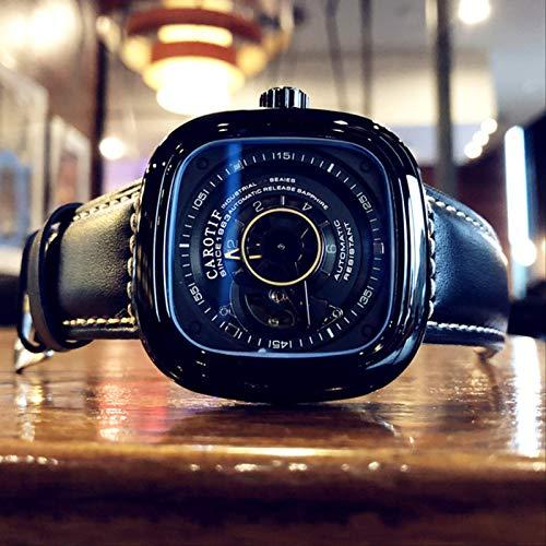 Miwaimao Nuevo Reloj para Hombre, Reloj para Hombre, Reloj Mecánico Hueco Automático para Estudiantes, Tendencia De Las Fuerzas Especiales, Esfera Grande Cuadrada