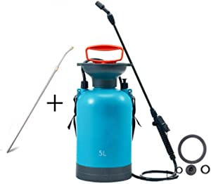 QFQ Watering Can Watering Flowers, Gardening Pressure Spraying Sprayer, Large Capacity Watering Can 5L ph
