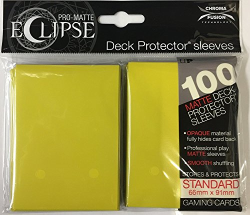 Ultra Pro Matte Eclipse Lemon Yellow Standard Deck Protector Sleeves (100 Count Pack)