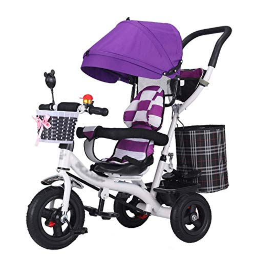 Find Discount GFF Pushchair 4-in-1 Baby Stroller Trike Bike High Carbon Steel Frame Kids' Trolley wi...