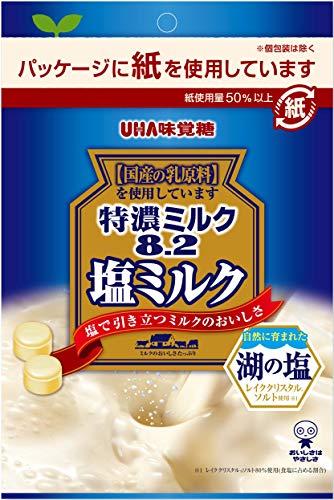 UHA味覚糖 特濃ミルク8.2 塩ミルク 75g ×6袋