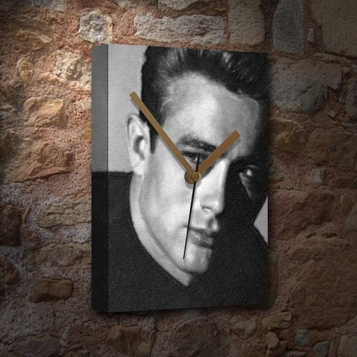 JAMES DEAN - Canvas Clock (A4 - Signed by the Artist) #js002