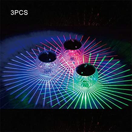 Mobestech Solar-Pool-Lampe Fernbedienung IP65 wasserdichtes LED-Tauchlicht Floating Light