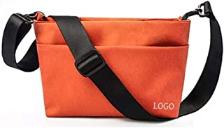 Haibeisi Fashion Unique Black Canvas Crossbody Bag Messenger Multi-Functional Casual Fashion Travel Bag (Color : Orange, Size : S)