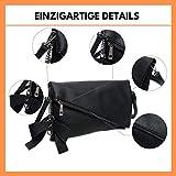 Clutch 2-in-1 - Kleine Handtasche Elegante Abendtasche - Damen Umhängetasche - Schultertasche Abnehmbarer Gurt - inkl. Schleife - 8