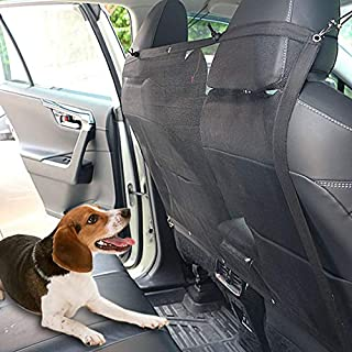 WANLIAN Dog Car Barrier Vehicle Pet Barrier Backseat Mesh Dog Car Divider Net with Adjusting Rope and Hook Suitable for SU...