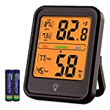 KJTEMOP Digital Hygrometer Indoor Thermometer Accurate Temperature Monitor Meter Humidity Gauge with Backlight for Home Office Greenhouse