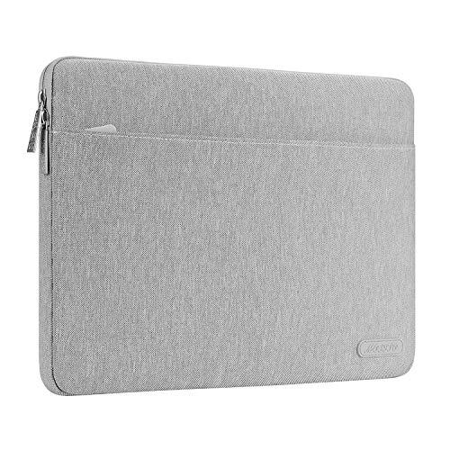 MOSISO Tasche Sleeve Hülle Kompatibel 13-13,3 Zoll MacBook Pro, MacBook Air, Notebook Polyester Gewebe schützende Horizontal Laptophülle Schutzhülle Laptoptasche Notebooktasche, Grau