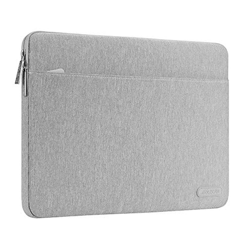 MOSISO Funda Protectora Compatible con 13-13,3 Pulgadas MacBook Air/MacBook Pro Retina/2019 2018 Surface Laptop 3/2/Surface Book 2, Bolsa de Poliéster Horizontal Resistente a Derrames, Gris